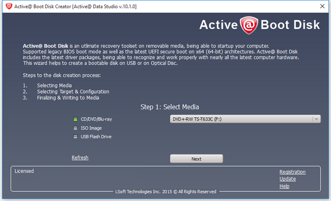 Active Boot Disk Suite 10.1.0 LiveCD (WinPE 5.1)