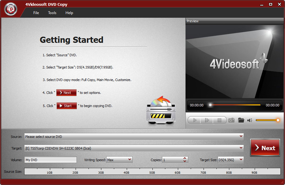 4Videosoft DVD Copy 3.2.22 Multilingual