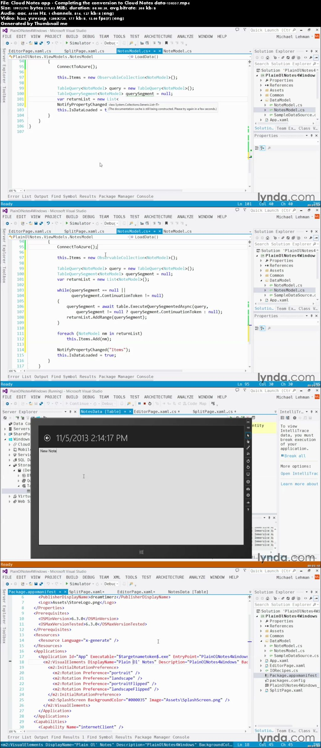 Lynda - Using Windows Azure with Windows Store Apps (repost)