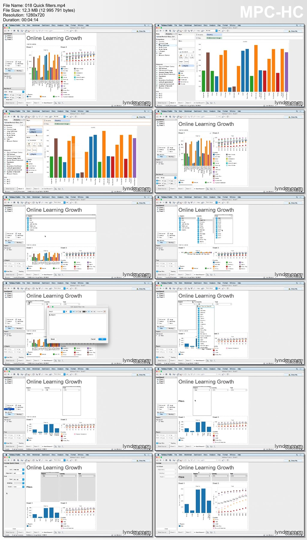 Lynda - Creating Interactive Dashboards in Tableau