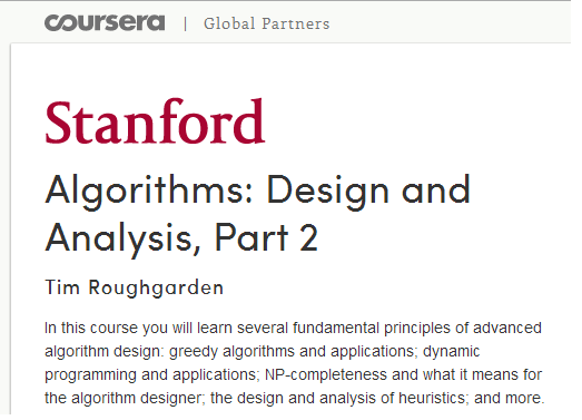 Coursera - Algorithm Design & Analysis Part 2 [repost]