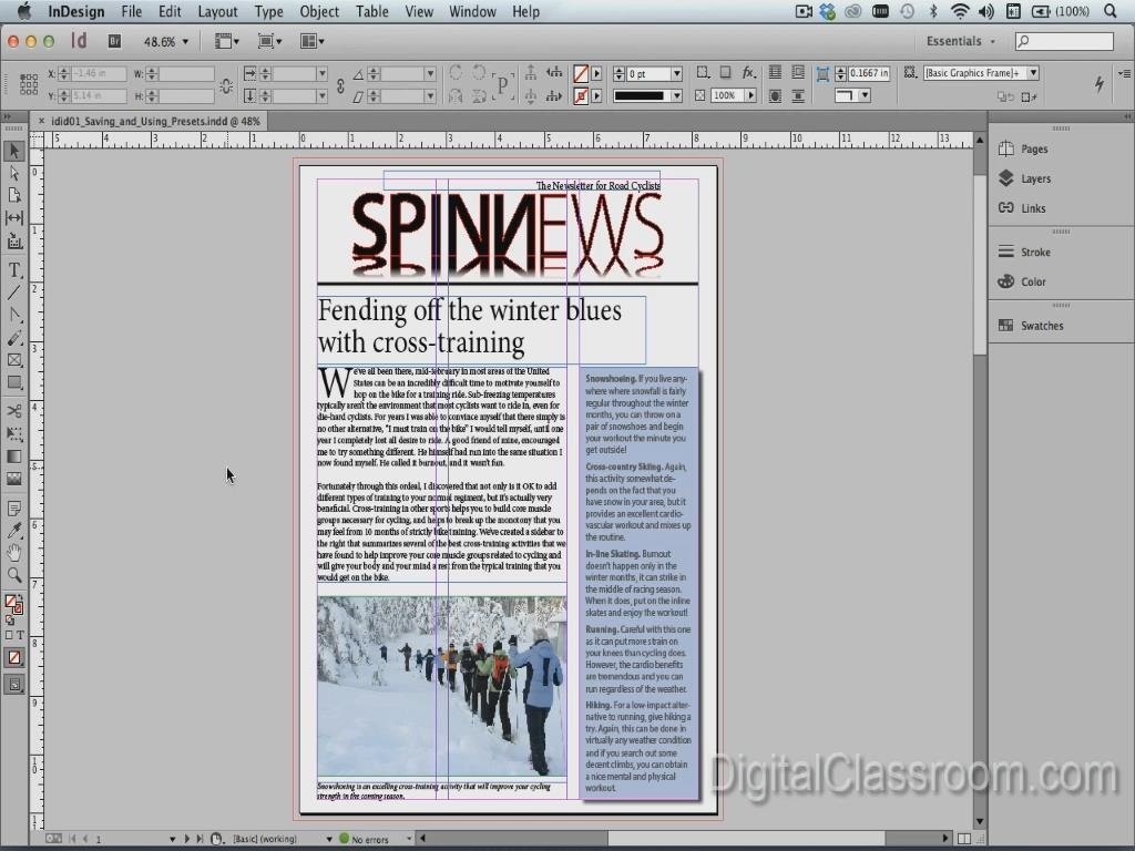 LearnNowOnline - InDesign CC In-Depth, Part 4: Automation & Access