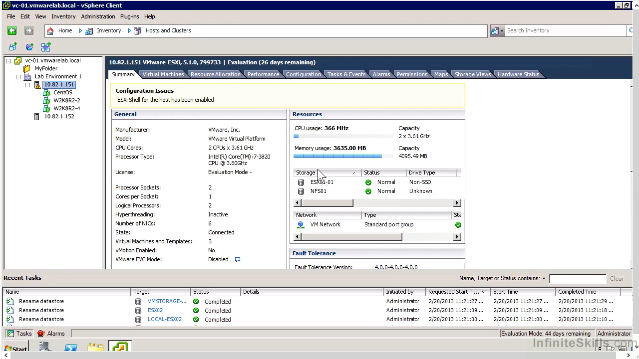 Infinite Skills - VMware ESXi and vSphere Admin Tutorial [repost]