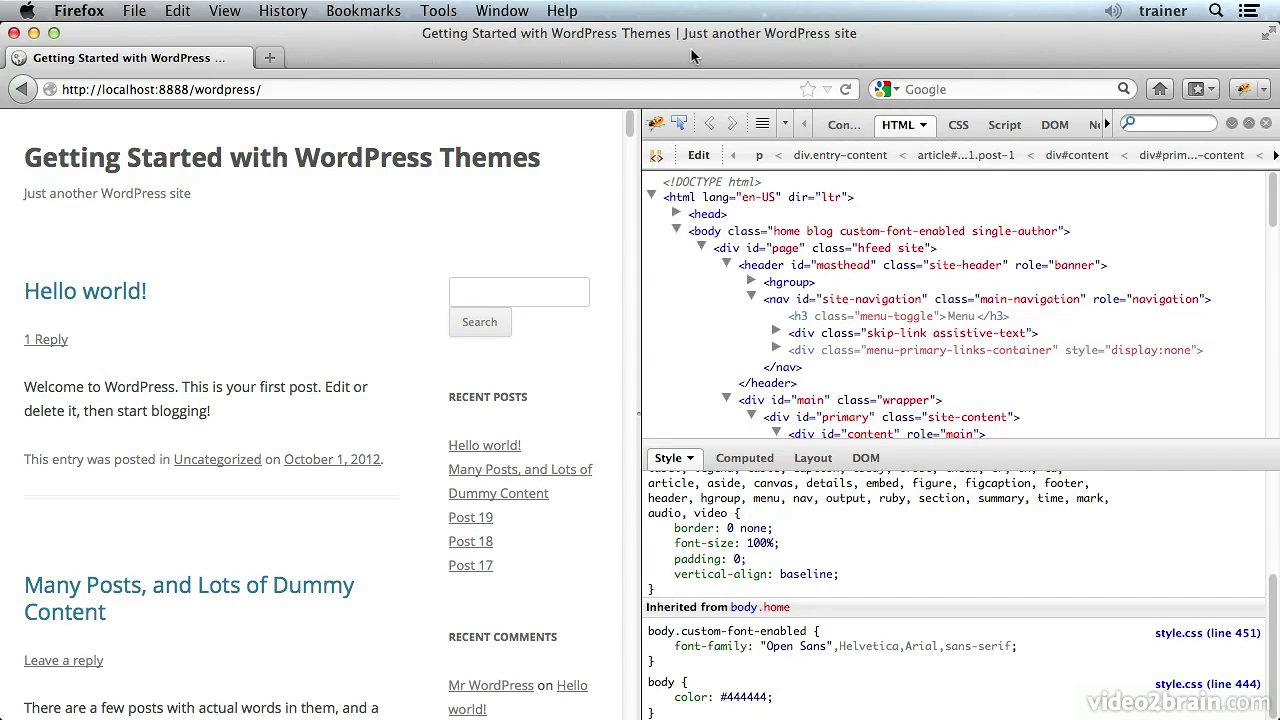 video2brain - Getting Started with Themes in WordPress with Joe Chellman [repost]