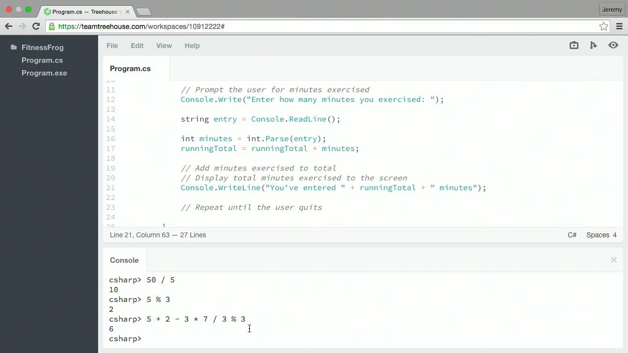 Teamtreehouse - C# Basics