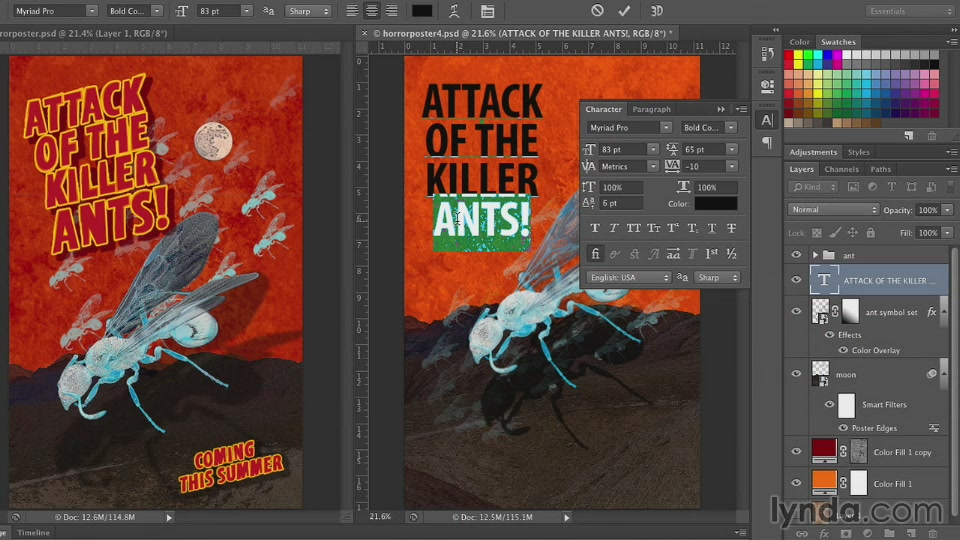 Lynda - Photoshop for Designers: Working with Illustrator