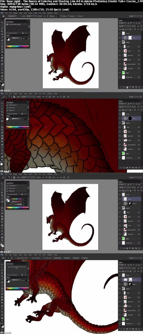 Tutsplus - The Basics of Coloring and Shading Line Art in Adobe Photoshop