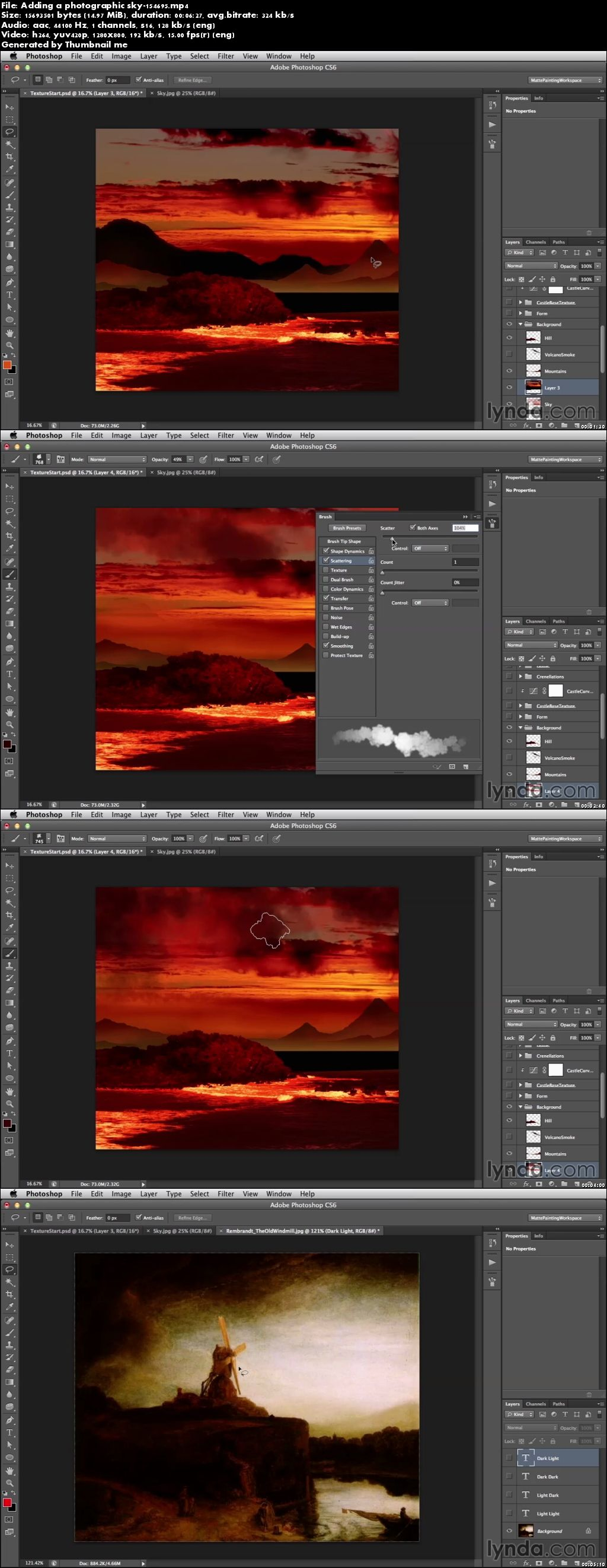 Lynda - Digital Matte Painting Essentials 4: Texturing