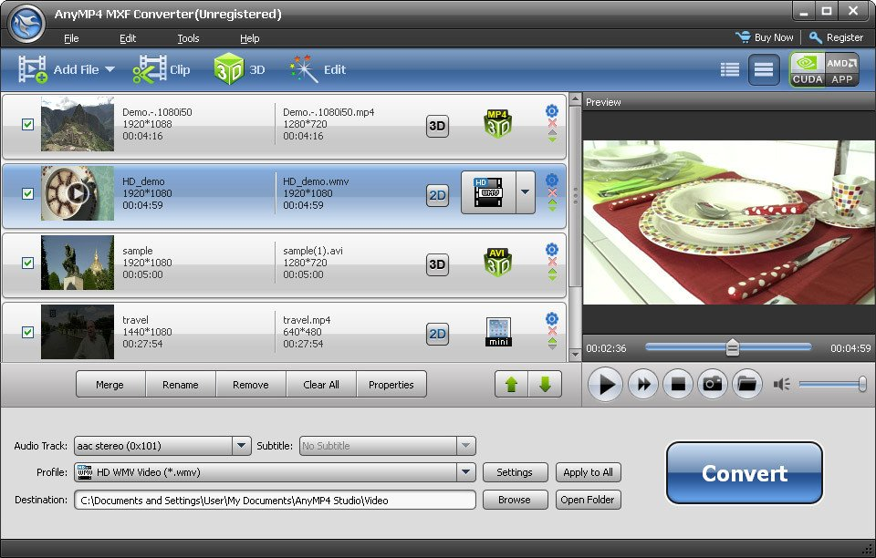 AnyMP4 MXF Converter 6.2.6 Multilingual