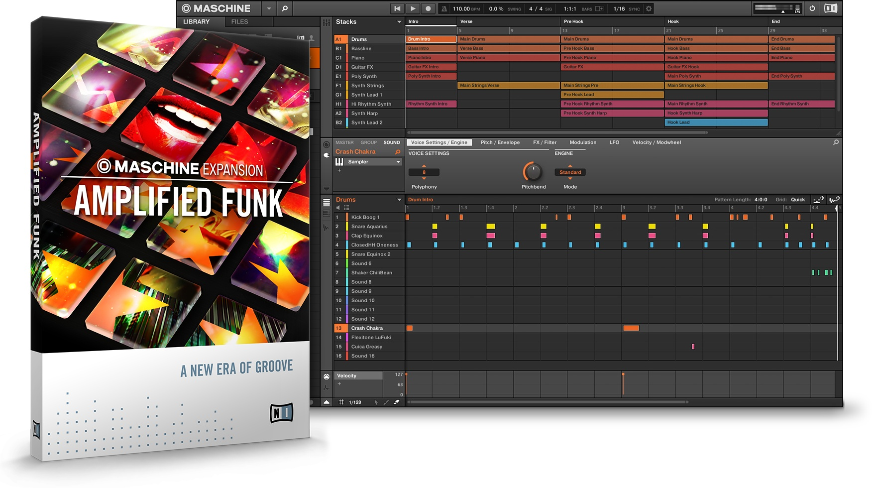 Native Instruments Maschine Expansion Amplified Funk v1.0.0 HYBRID