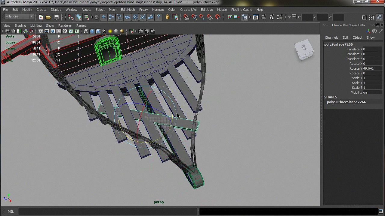 Modeling a Detailed Ship in Maya + Project Files [Repost]