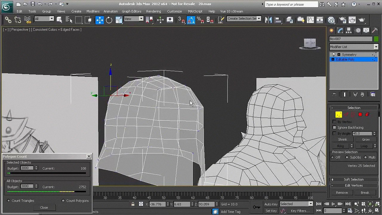 Modeling Low Polygon Game Characters in 3ds Max + Project Files [Repost]