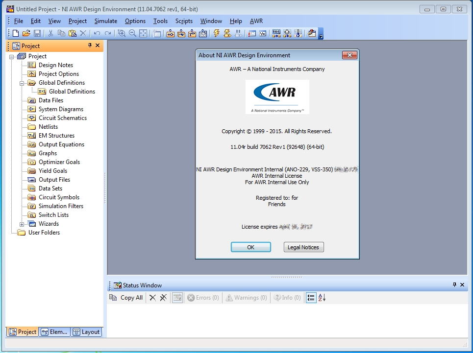 NI AWR Design Environment 11.04