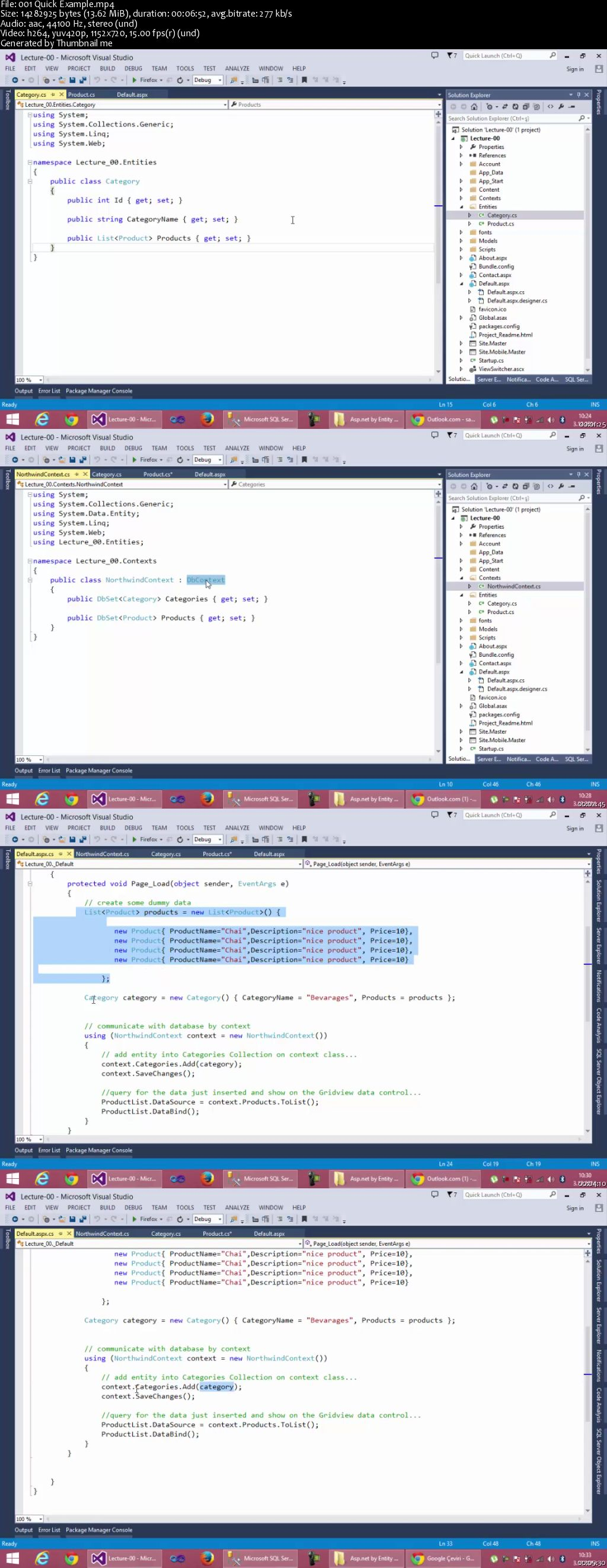 Complete Entity Framework Code First : Asp net