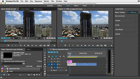 Lynda - Premiere Pro Guru: Adjustment Layers and Nesting