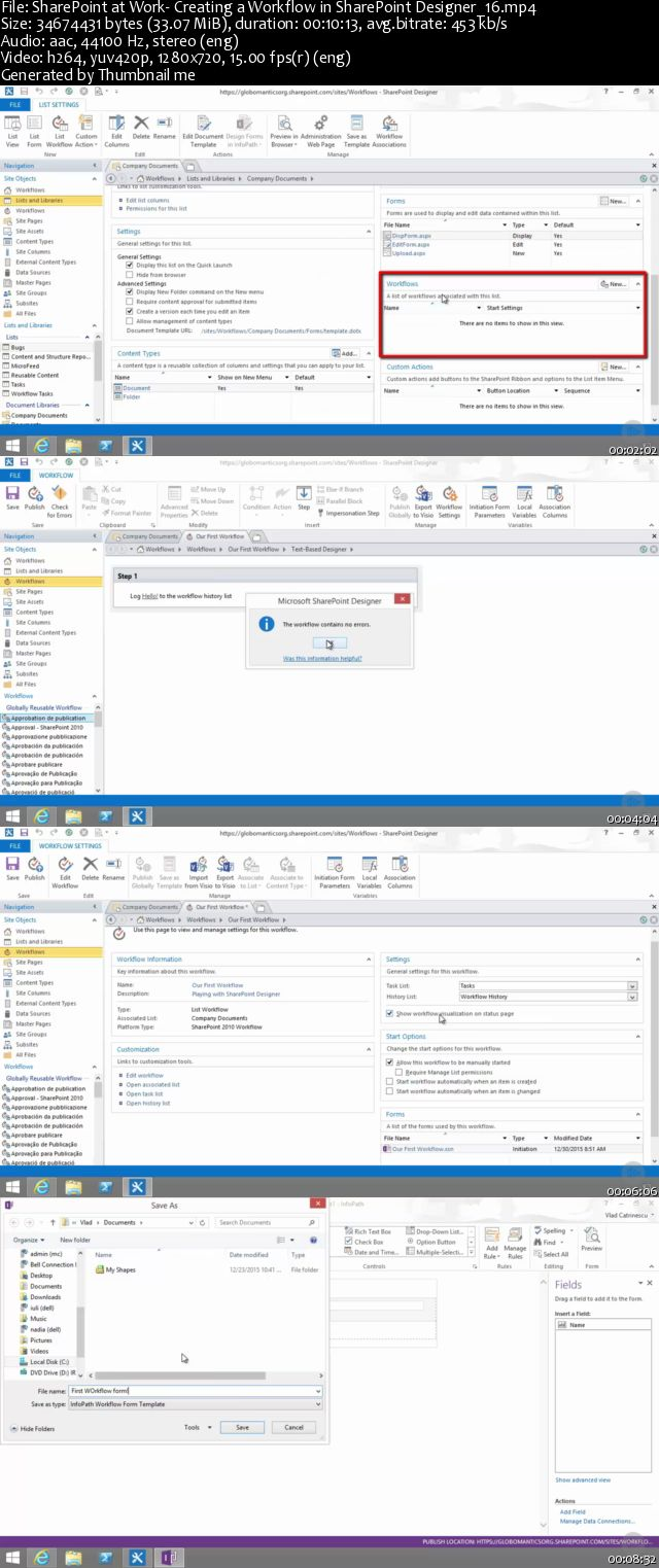 SharePoint at Work: Creating a Workflow in SharePoint Designer