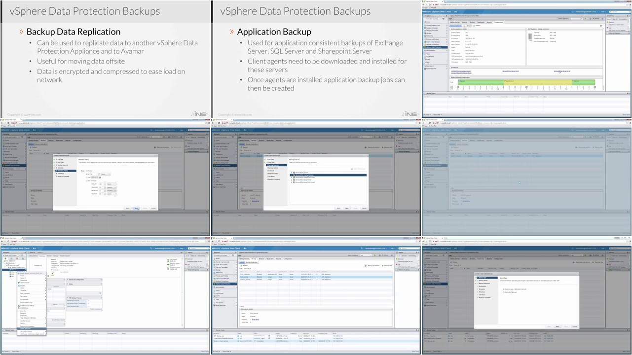 INE - Implementing vSphere Data Protection & Replication