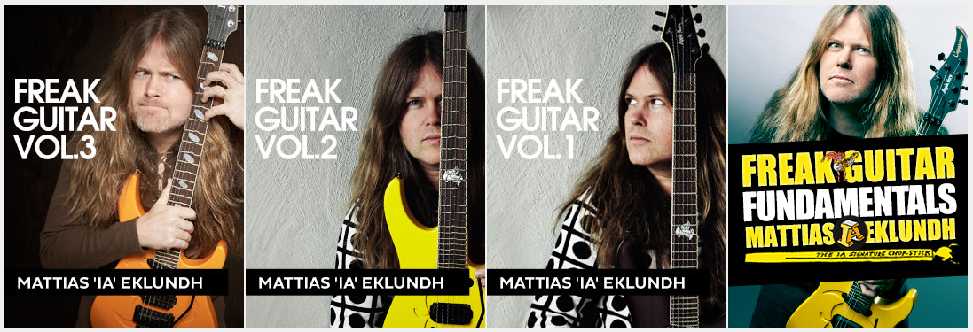 Freak Guitar Vol 1,2,3 & Fundamentals with Mattias Eklundh