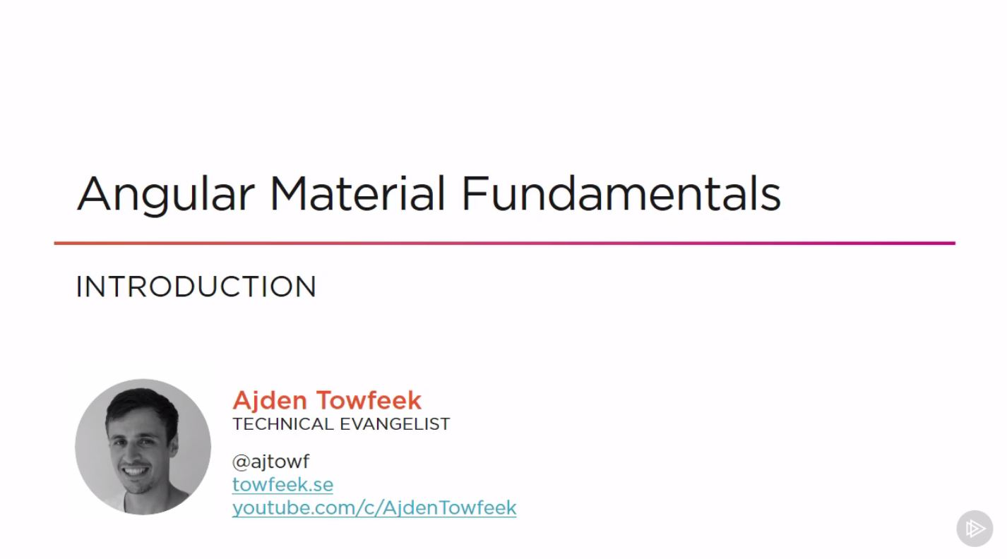 Angular Material Fundamentals
