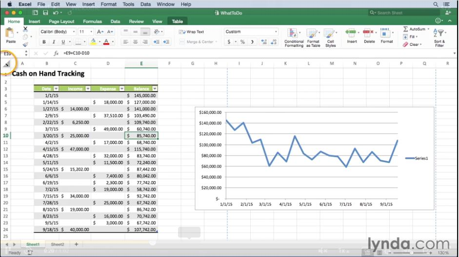 Excel for Mac 2016 Essential Training