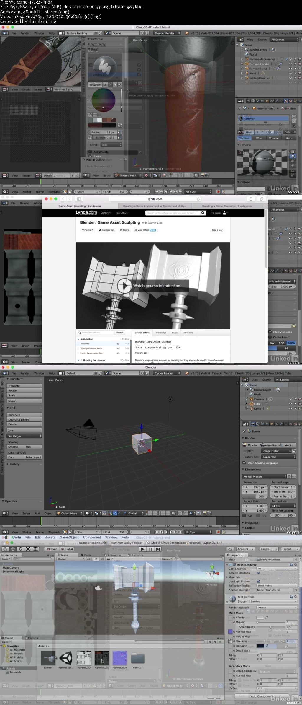 Lynda - Blender: Game Asset Textures