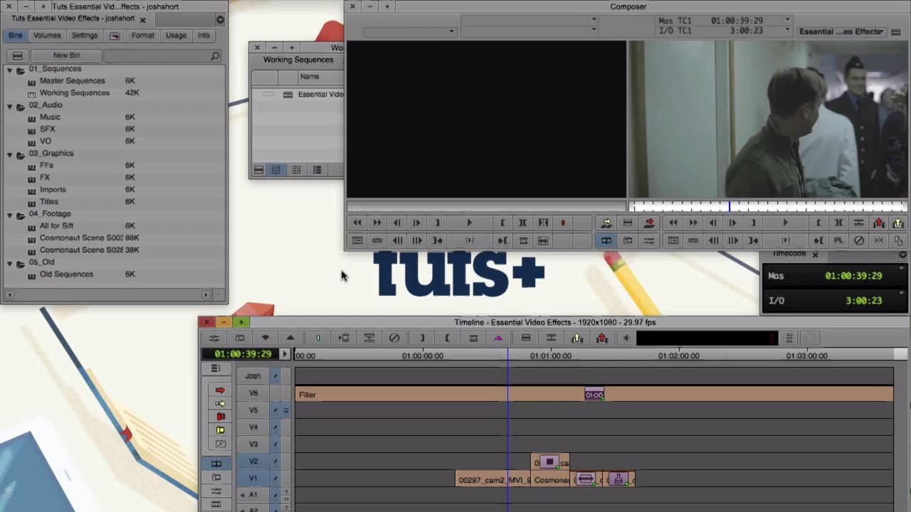 Tutsplus - Essential Video Effects in Avid Media Composer