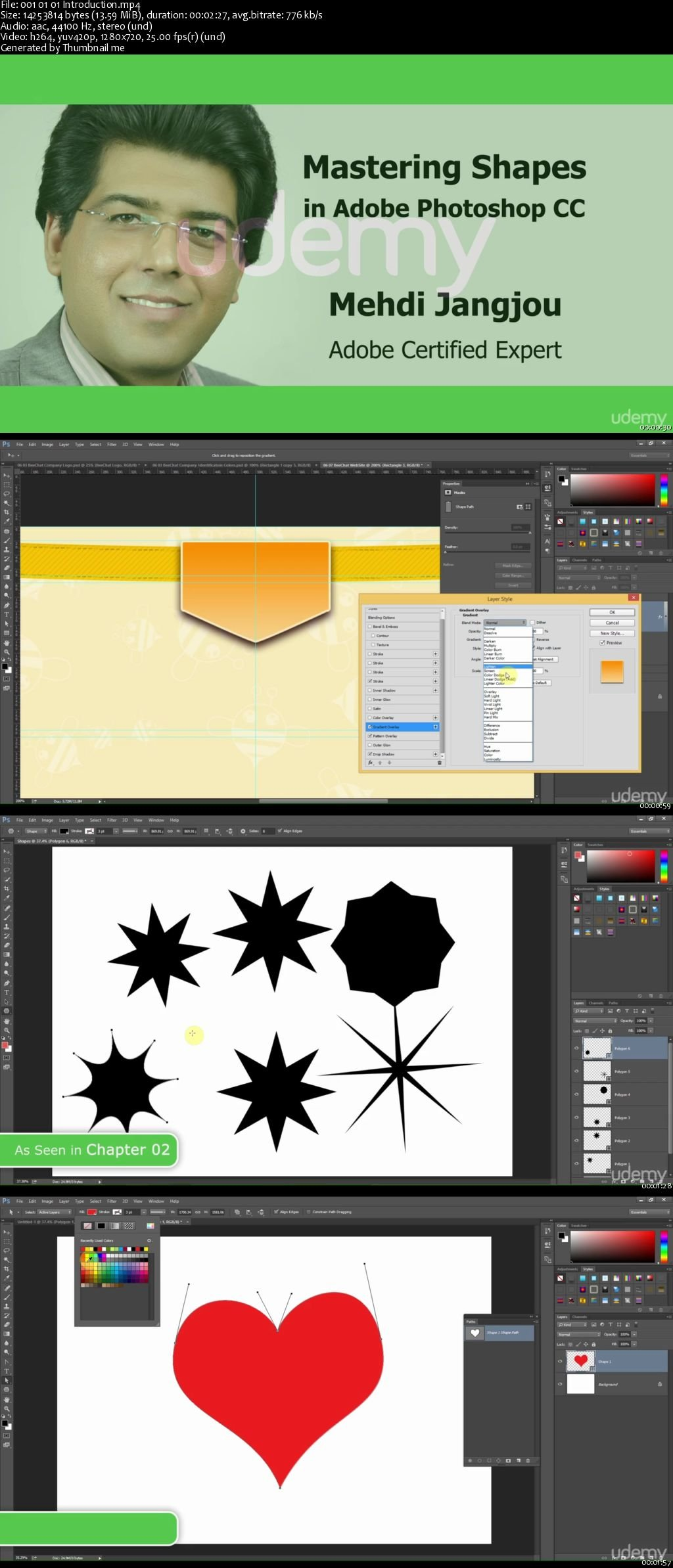 Mastering Shapes in Adobe Photoshop CC