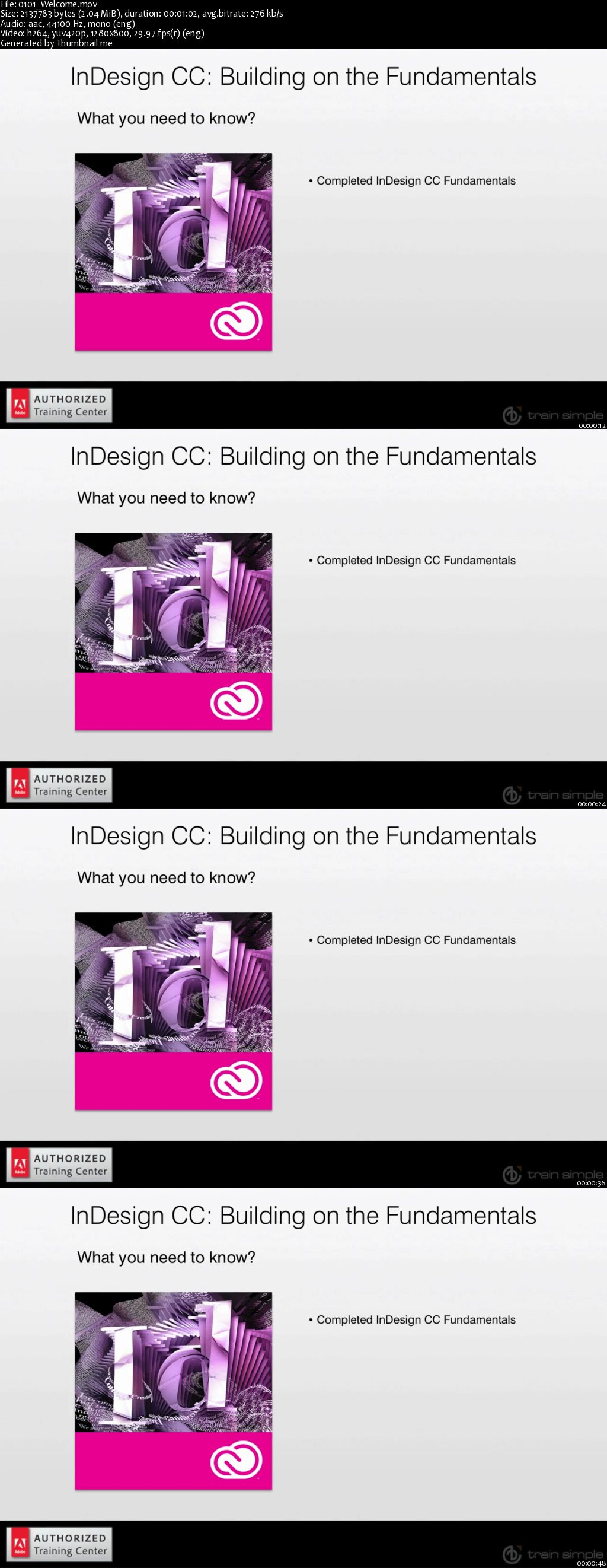 InDesign CC Building on the Fundamentals