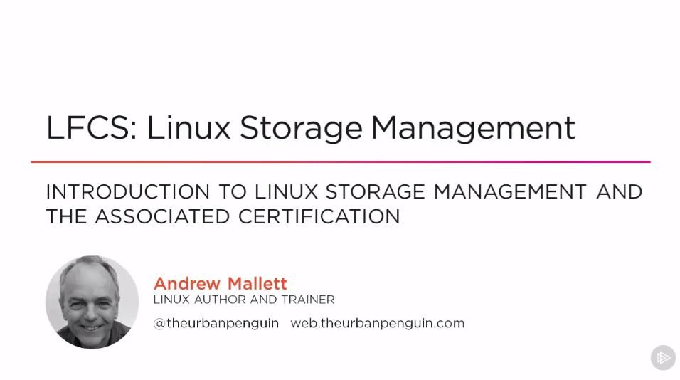 LFCS: Linux Storage Management
