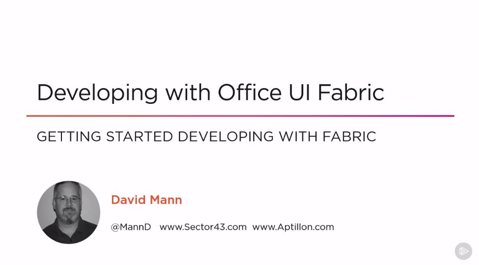 Developing with Office UI Fabric