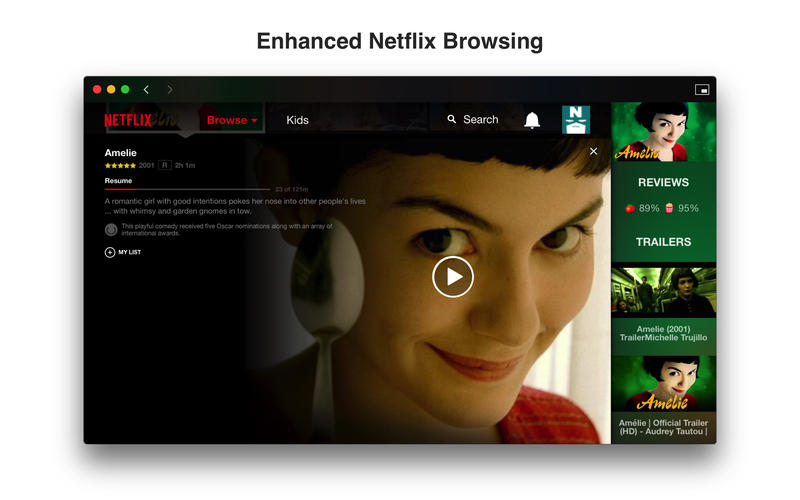Friendly for Netflix 2.1 Mac OS X