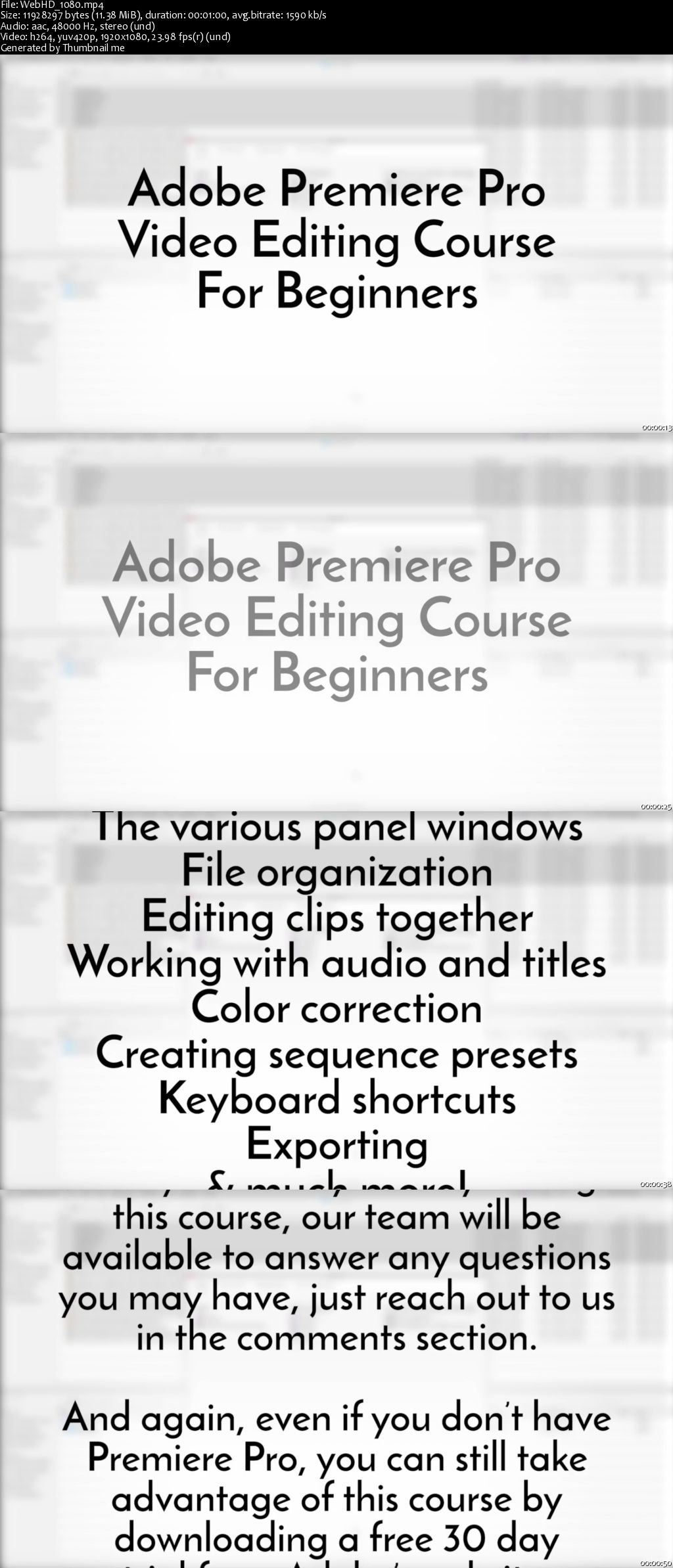 Adobe Premiere Pro: Video Editing Training For Beginners