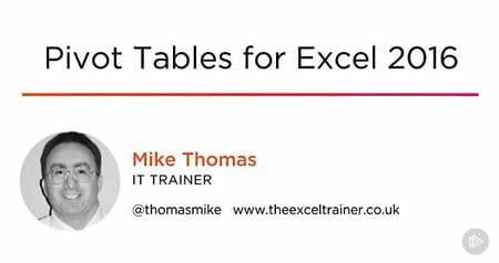 Pivot Tables for Excel 2016 [repost]