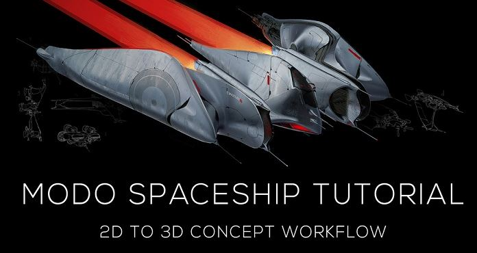 Gumroad - Modo Spaceship Tutorial by Vaughan Ling