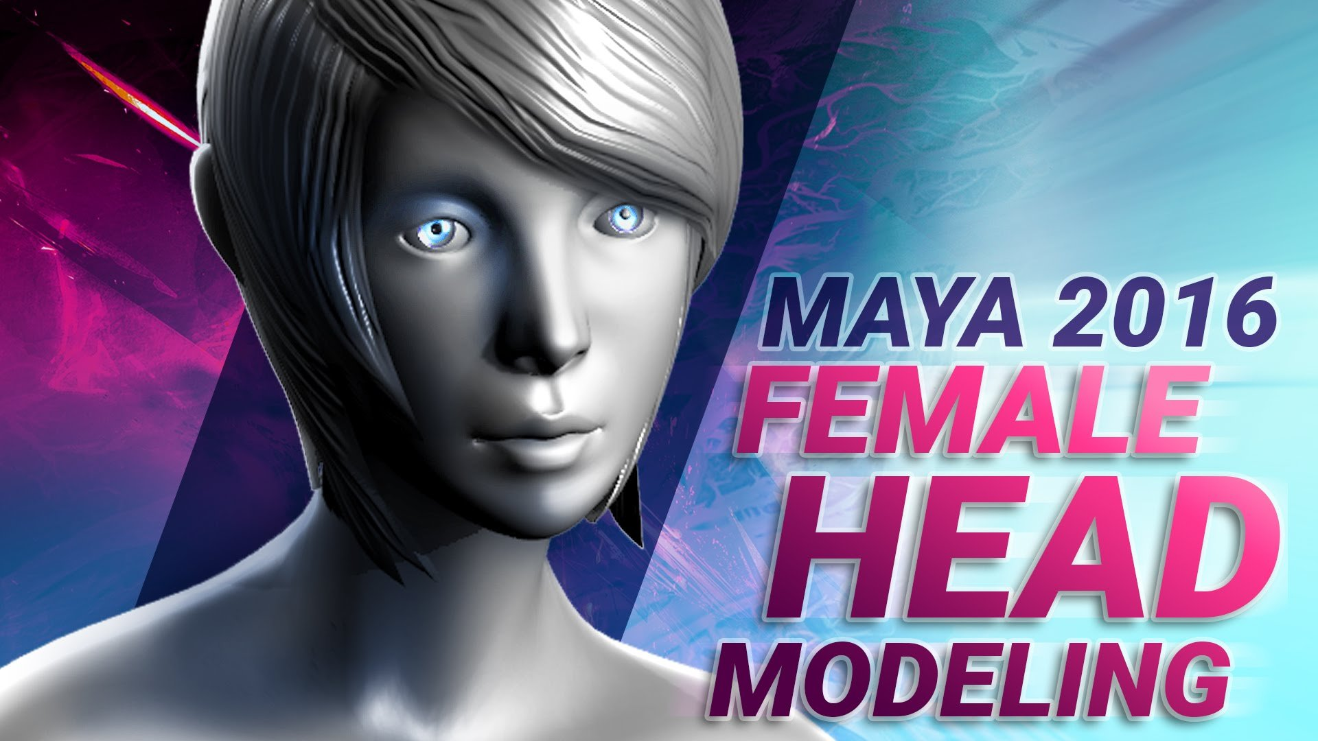 Maya 2016 female head modeling tutorial