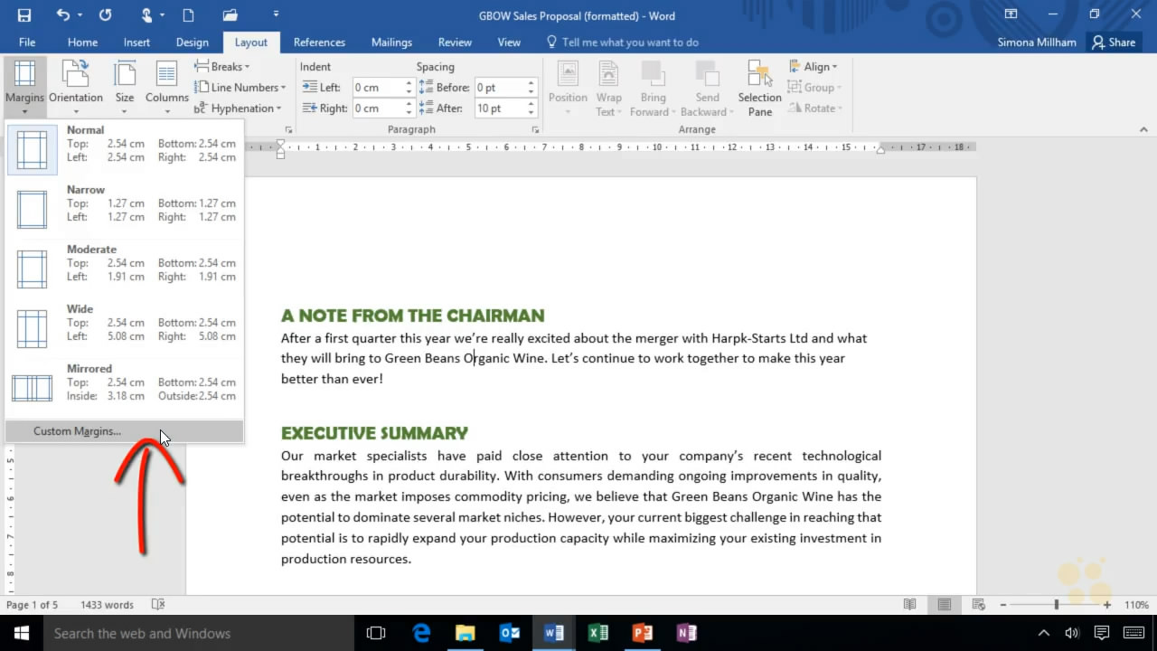 CBT Nuggets - Microsoft Word 2016