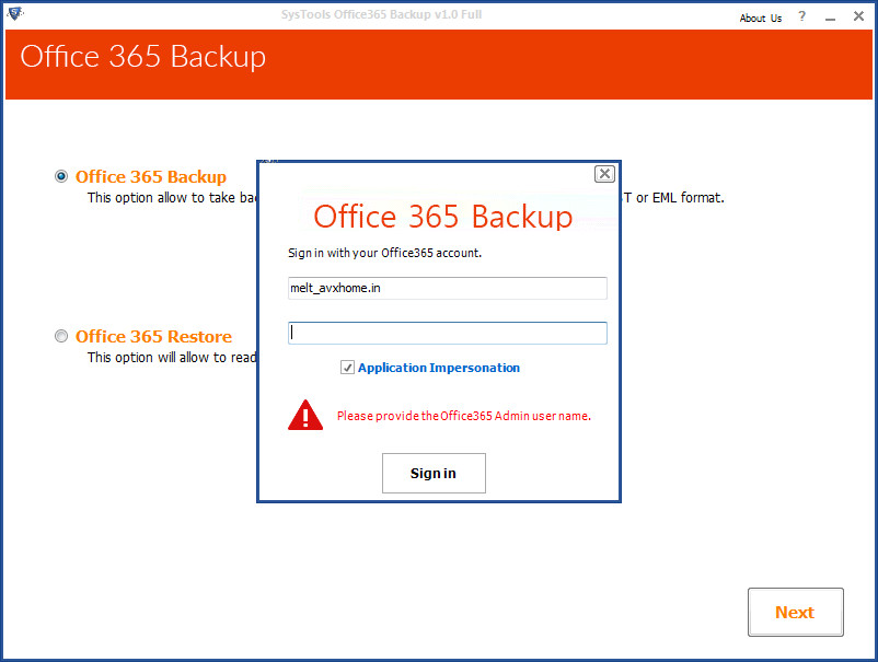 Office 365 Backup 1.0
