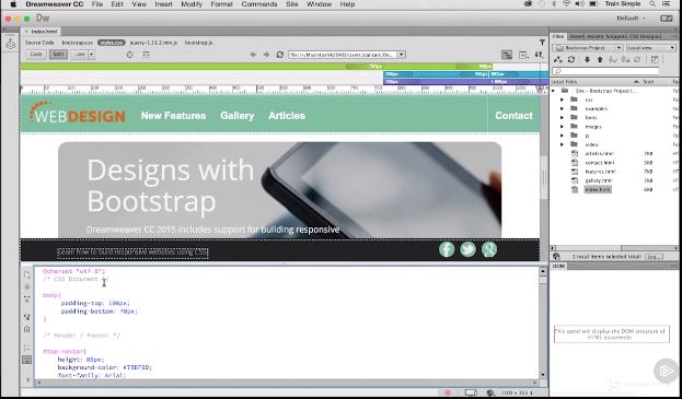 Dreamweaver CC Responsive Design with Bootstrap