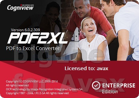 CogniView PDF2XL Enterprise 6.0.2.309