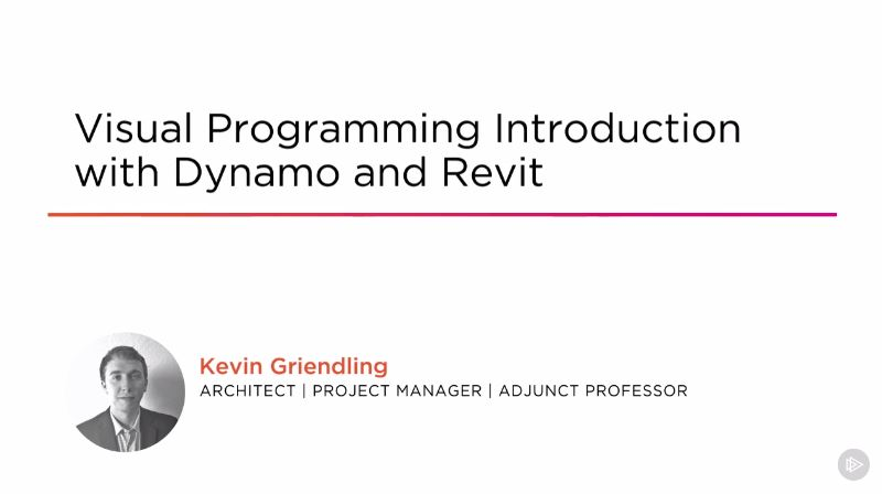 Visual Programming Introduction with Dynamo and Revit