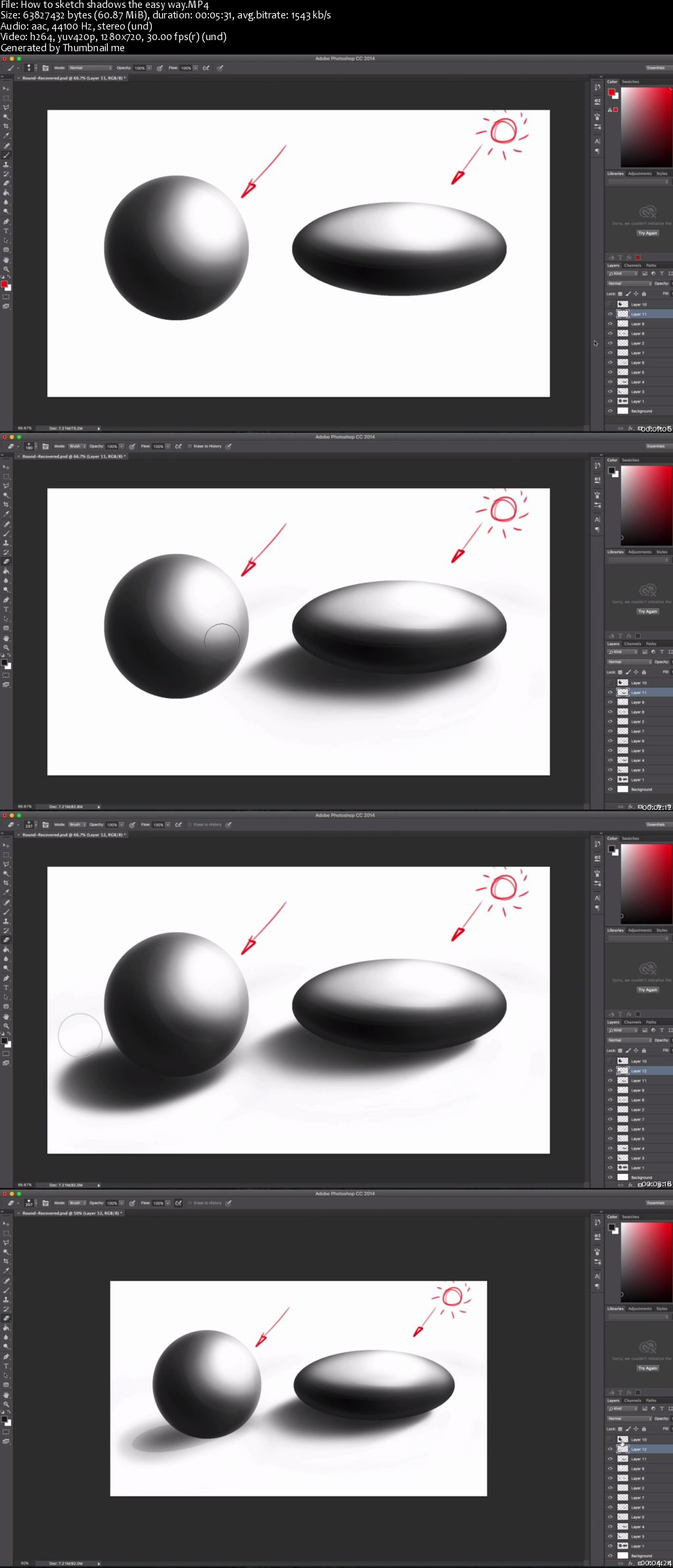 Photoshop for Industrial Designers: Sketching Round Objects & Wrap Texturing