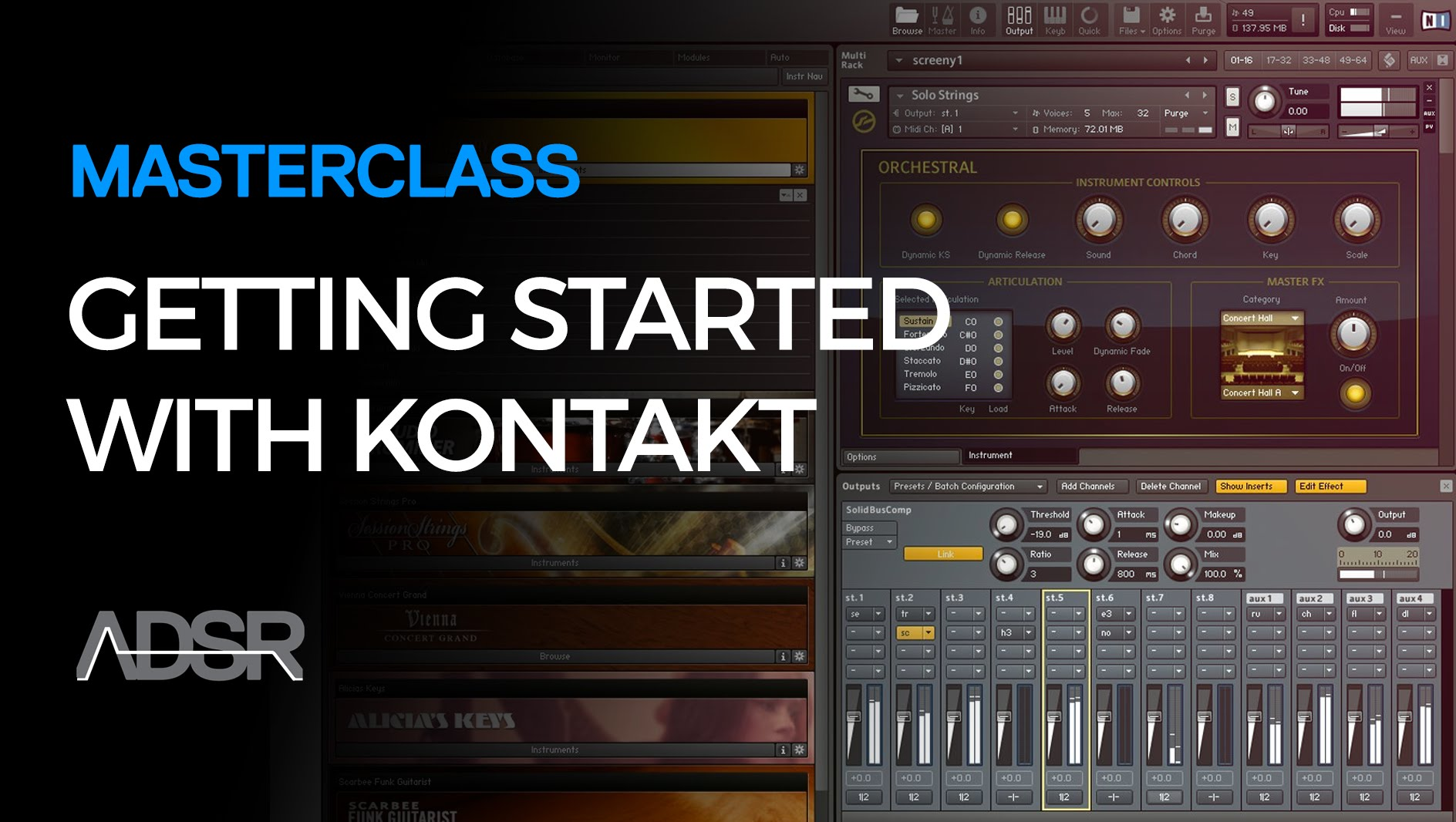 ADSR Sounds Getting Started With Kontakt (2016)