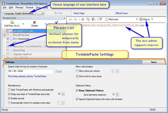 TwinkiePaste 2.16 Build 436 + Portable