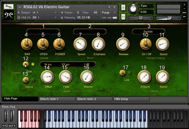 Replika Sound - RSGL02 V6 Electric Guitar KONTAKT