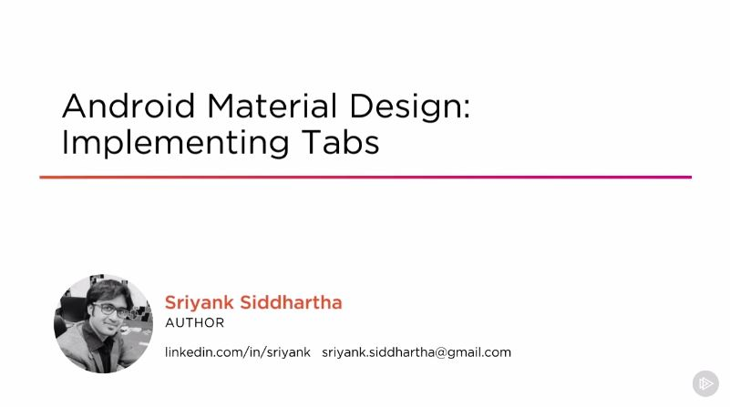 Android Material Design: Implementing Tabs