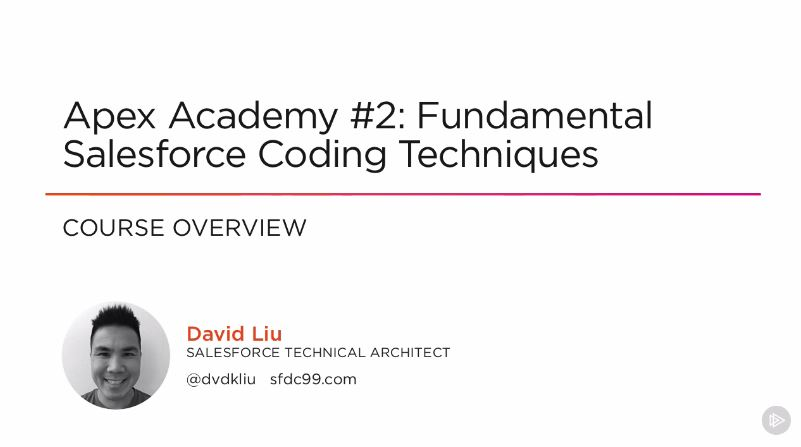 Apex Academy #2: Fundamental Salesforce Coding Techniques