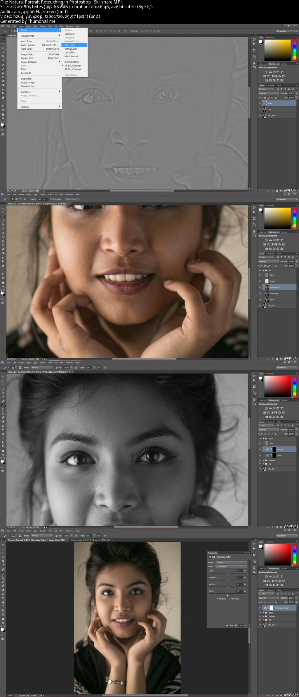 Natural Portrait Retouching in Photoshop
