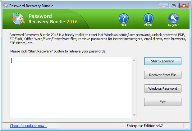 Password Recovery Bundle 2016 Enterprise Edition 4.2