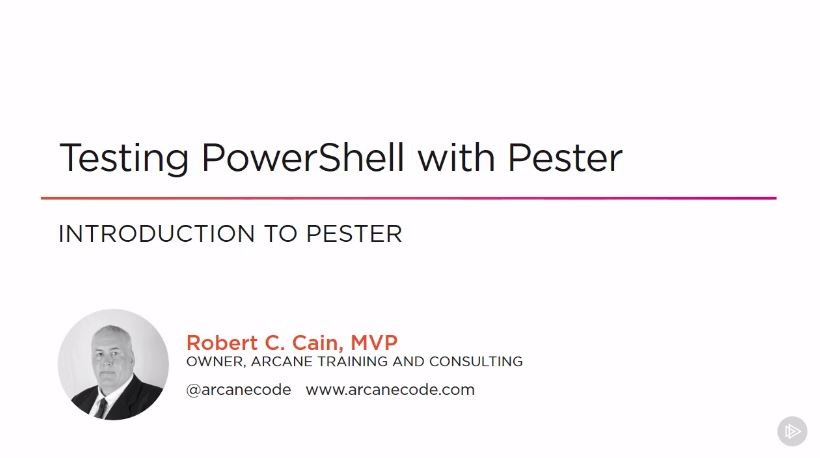 Testing PowerShell with Pester
