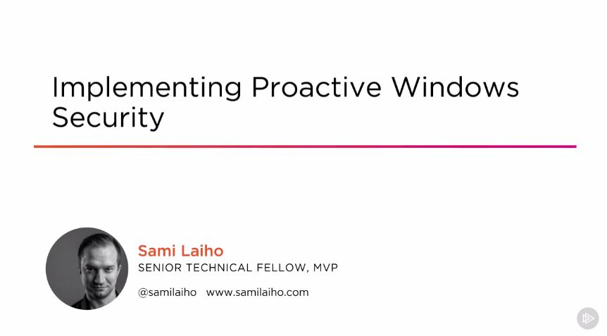 Implementing Proactive Windows Security